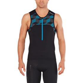 2XU Active Camiseta Triatlón Hombre, black/retro dresden blue